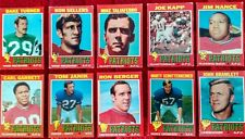 Topps 1971 New England Patriots NFL football card complete team set