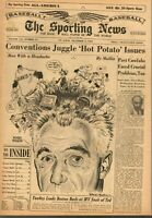 Sporting News Baseball newspaper 12/4/1957, Comm. Ford Frick, Winter Meetings~VG