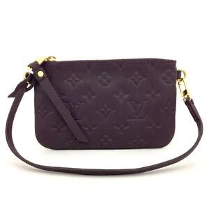 Louis Vuitton Monogram Empreinte Accessories Pouch Hand Bag /70140