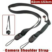 Practical Shoulder Sling Belt Neck Strap BLACK For Camera SLR/DSLR Nikon Canon