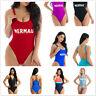 Womens One-Piece Swimsuit Beachwear Zip Swimwear Push-up Monokini Bikini Bathing