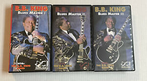 B.B.KING BLUES MASTER 3 volumes complete 220 minutes 1,2 & 3 VHS CLAMSHELL