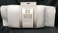 Luxury Spa Pillow and Tub Mat Bath Set