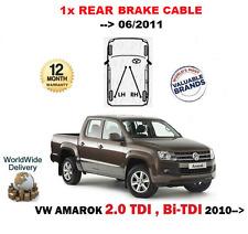 Para Vw Volkswagen Amarok 2.0 TDI + BI hasta 06/2011 1x Trasero Cable Del Freno
