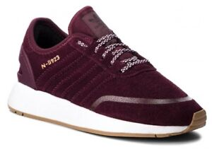 Adidas Originals N-5923 Trainers Adidas GS Girls Womens Suede Trainers Burgundy