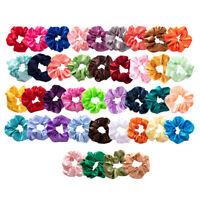 Pack of 40 Women's Hair Silk Scrunchies Satin Elastic Hair Bands Ties Ropes