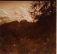 Montagne Francia Suisse Foto Stereo PL59L1n47 Placca Da Lente Vintage c1910