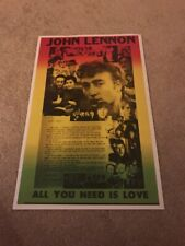Beatles Poster John Lennon All you need is love