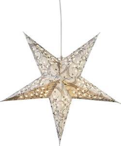 Papierstern Weihnachtsstern Leuchtstern LED Stern Lichterkette Dazzling weiß 45c