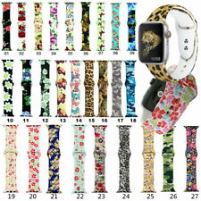 Sport band Wristband Printed Silicone Strap for Apple Watch 38mm/40mm 42mm/44mm