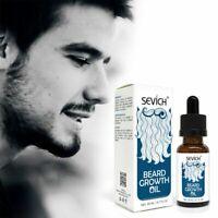 20ml 100% Natural Organic Face Beard Oil Soften Hair Growth Nourishing For Men