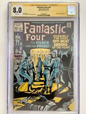 FANTASTIC FOUR #87 CGC 8.0 SS STAN LEE SIGNED WHITE PAGES DR. DOOM HIGHER GRADE