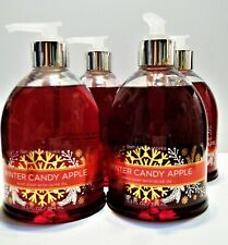 Bath Body Works WINTER CANDY APPLE Hand Soap with Olive Oil, NEW x 4