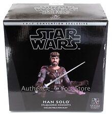 Star Wars Celebration Orlando 2017 Gentle Giant Han Solo McQuarrie Bust Figurine