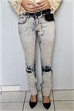 jeans destroy délavé femme HIGH USE taille 38 (I 42) NEUF ÉTIQUETTE val 350€