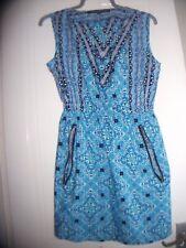 6b657eb76c4 MELA LONDON NEW LOOK BLUE PATTERNED DRESS SIZE 12