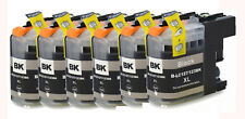 6 Compatible Black Ink Cartridge For LC123BK DCP-J4110DW MFC-J4510DW MFC-J650DW