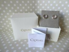 Clogau Gold, Silver & Rose Gold Rose Quartz Ripple Stud Earrings RRP 139