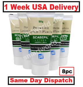 PMT Permethrine Lotion 8 X 50ml(1.69Oz) Scabies Head Lice 1 Week Delivery USA