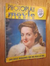 1941 PHOTOPLAY MOVIE MIRROR February issue Bette Davis COVER MOVIE MAGAZINE