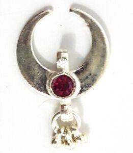 925 Sterling Silver 11.80 Carat Fine Jewelry 1 Inch Moon Pendants