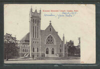 1908 KOUNTZE MEMORIAL CHURCH OMAHA NEBRASKA POSTCARD