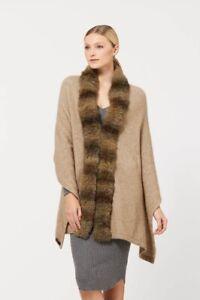 McDonald Possum Merino Fur Womens Shrug Wrap - Mocha