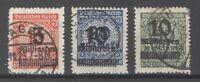Dt. Reich Mi.Nr. 332-37 B aus Freimarken 1923 gestempelt, gp. BPP Infla (26143)