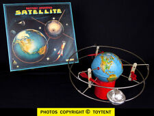 Satellite in orbit around globe Japan magnetic lighted space toy ... see movie!