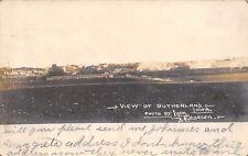 Sutherland Iowa~Town Panorama~Homes~Long Farm Barn~Lyons & Clausen Pub~1907 RPPC