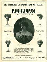 Publicité ancienne postiches Jourliac 1908 issue de magazine