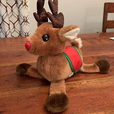 VINTAGE 1983 DAKIN CHRISTMAS REINDEER RUDOLPH STUFFED ANIMAL PLUSH