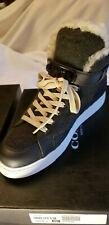 New COACH Richmond Wool Shearling High Top Sneaker Size 9 Heathered Dark Grey