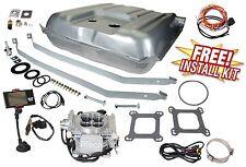 55 56 Chevy Belair FITech 30001 Go EFI 4 Gas Tank Install 600HP Conversion Kit