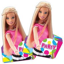 8 Pink Barbie Sparkle Children's Birthday Party Invitations plus Envelopes
