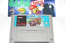 Super Mario Kart SNES SUPER NINTENDO PAL Testé TRAVAIL 1992 RARE!!!
