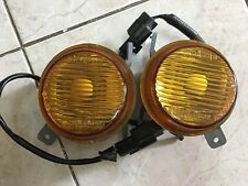 Mitsubishi Mirage Cyborg CJ4A OEM Yellow Round Foglights (Used)