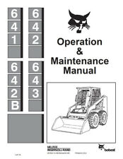 Bobcat 641 642 641B 642B Skid Steer Loader Operation Maintenance Manual 6570241
