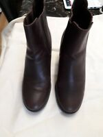 Ladies Timberland brown leather ankle boots new size 8