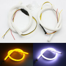 2pcs Car Sequential LED DRL Strip Lights Headlight Switchback Turn Signal Lamp