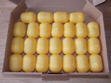 25 leere Ü-Ei Kapseln in gelb, Hochzeit, Adventskalender, Tombola
