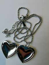 Heart Shaped Necklace With Photo Frame Pendant Silver Valentine Gift Locket