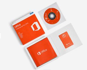 Microsoft Office 2016 Professional Plus Windows PC Retail Sealed Box DVD