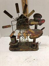 Vintage Copper Tin Windmill Music Box Sankyo Japan