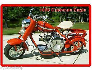 Cushman Eagle Motor Scooter 1959  Refrigerator / Tool Box Magnet Man Cave