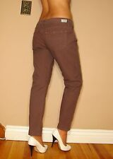 $176 Paige Roxbury Crop Skinny Low Rise Taupe Dark Pink Ankle Jeans 31 NWT