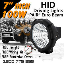 HID Xenon Driving Lights - 7 Inch 100w Euro Beam 4x4 4wd Off Road 12v 24v