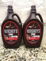 2 Bottles Hershey's Chocolate Syrup 48 oz Milk Ice Cream Dessert FREE SHIP