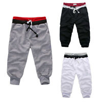 Men Baggy Jogger Casual Trousers Short Sports Pants Harem Training Dance Hip Hop