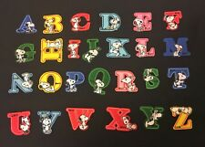 Sew on & iron on embroidery patches(snoopy alphabet letter)